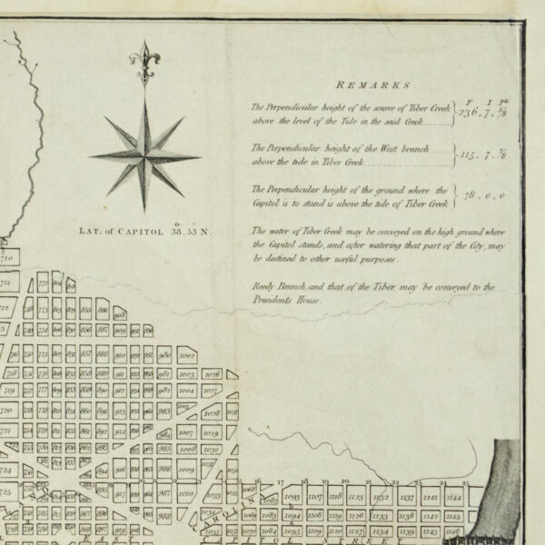 Plan of the City of Washington in the Territory of Columbia, detail