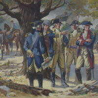 George Washington and His Generals Confer in Manhattan [Eventual Site of 43rd and Broadway]
