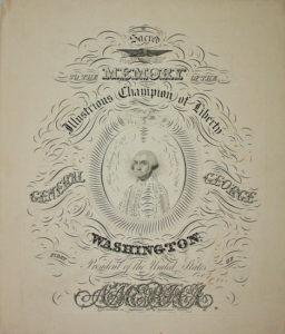 George Washington calligraphy print