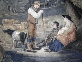 Le Berger Racontant Ses Malheurs [The Shepherd Relates His Misfortunes], detail