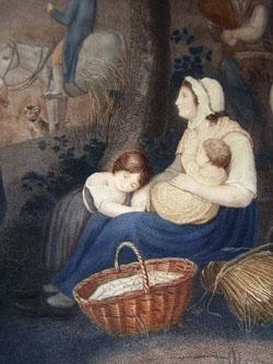 Les Charmes de la Moisson [The Charms of the Harvest] detail