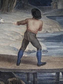 La Famille du Meunier Allant au Moulin [The Miller's Family Going to the Mill], detail