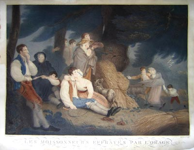 Les Moissonneurs Effrayés par L'orage [The Harvesters Frightened by the Thunderstorm]