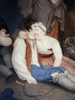 Les Moissonneurs Effrayés par L'orage [The Harvesters Frightened by the Thunderstorm], detail