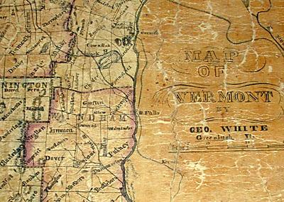Map, Vermont