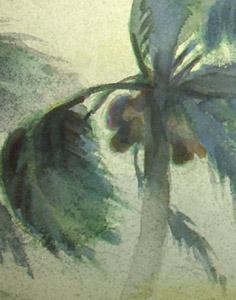 Windswept Palms, Honduras detail