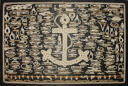 Sailors Knot Board with Macramé Anchor