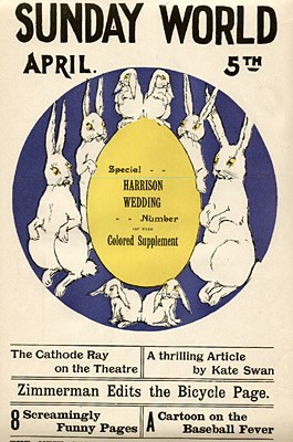April 5, [1896?] Sunday World Poster