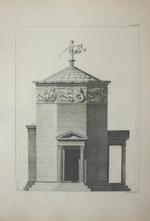 Chapter 3, Plate 3, Tower of the Winds -- Elevation.