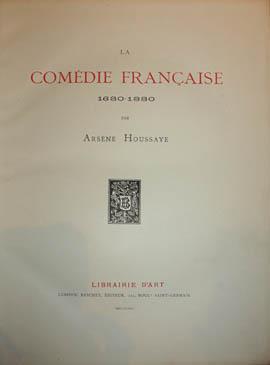 La Comédie Française 1680-1880