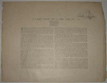 A Stern Chase and a Long One, text