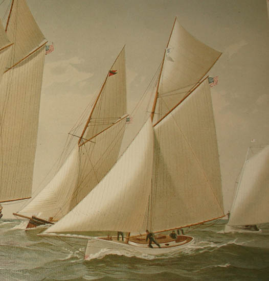 Chromolithographs from American Yachts, Their Clubs and Races