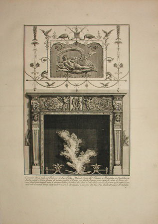 Chimneypiece designed for Lord Exeter