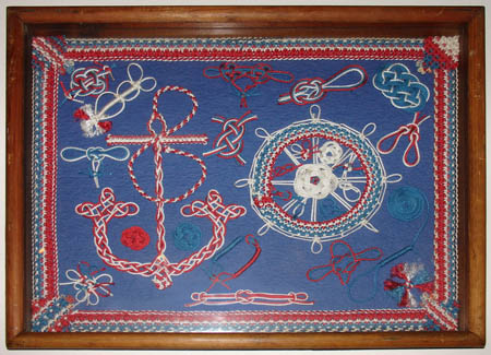 Embroidered and Macrame Sailor's Knot Sampler