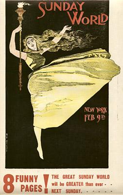February 9, 1896 Sunday World Poster