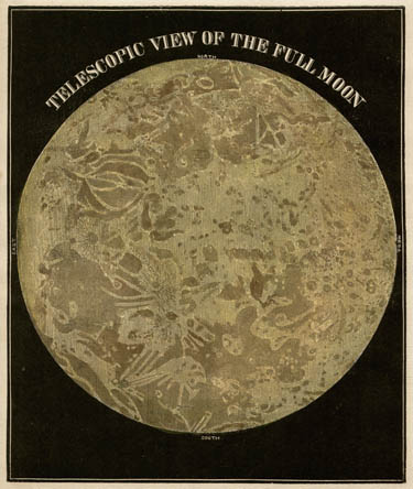 Smith's Illustrated Astronomy Telescopic View of the Full Moon