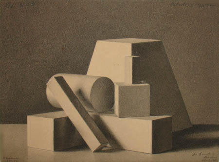 Still Life of Geometric Forms (1886)