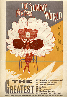 January 19, 1896 Sunday World Poster