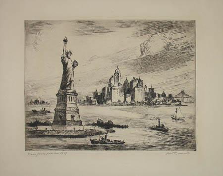 New York Harbor 1909