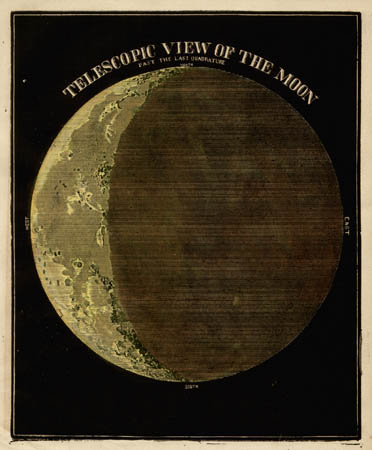 Smith's Illustrated Astronomy Telescopic View of the Moon Past the Last Quadrature