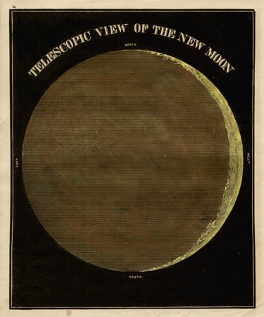 Smith's Illustrated Astronomy Telescopic View of the New Moon