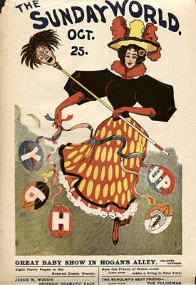 October 25, [1896?] Sunday World Poster