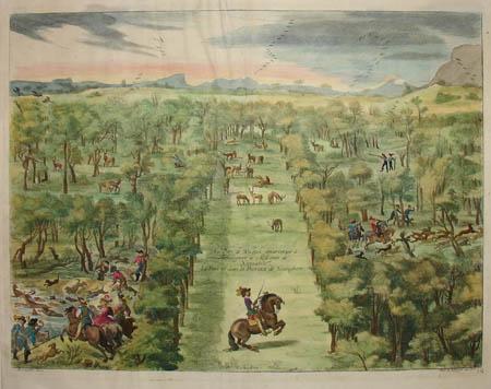 Le Parc de Welbeck appartenant à Monseigneur le Marquis de Nieucastle.  Le Parc est dans la Province de Nottingham.