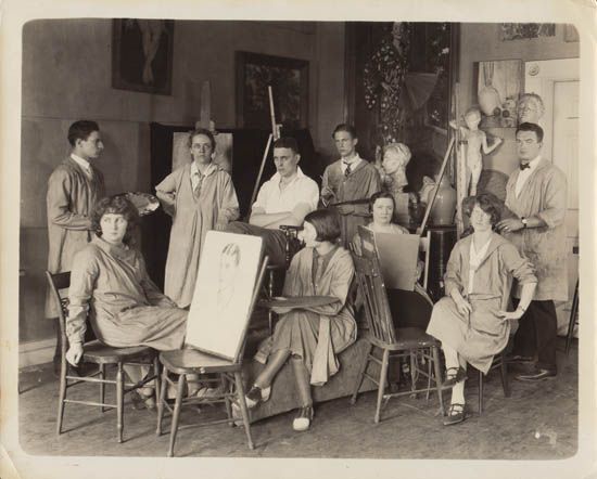 Portrait Class in Studio, 1925 (No. 3)