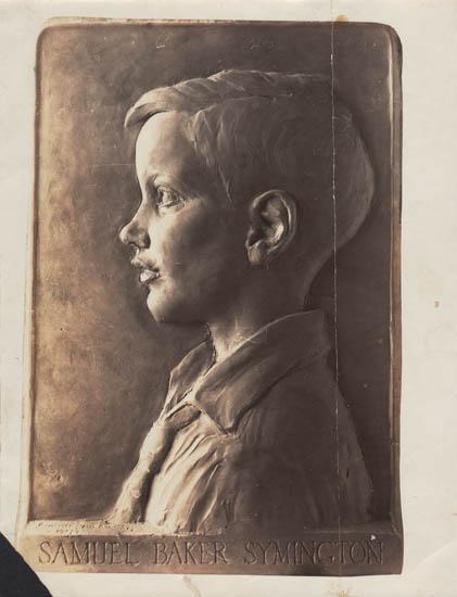 Bronze bas-relief portrait — 'Samuel Baker Symington'