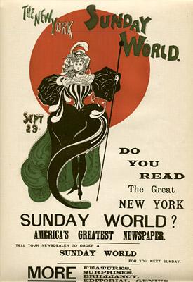 September 29, 1895 Sunday World Poster