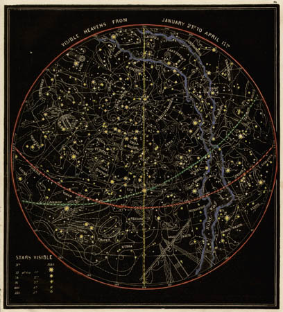 Smith's Illustrated Astronomy Visible Heavens from January 21st to April 17th