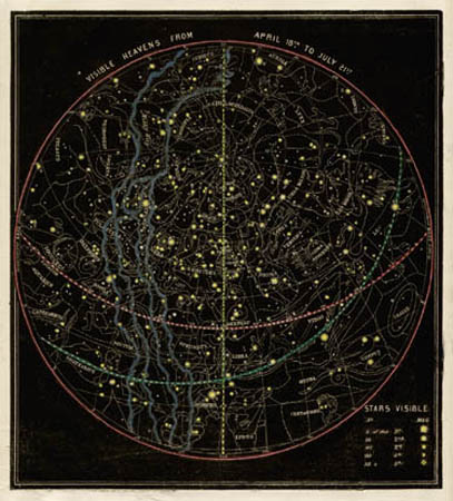 Smith's Illustrated Astronomy Visible Heavens from April 18th to July 21st