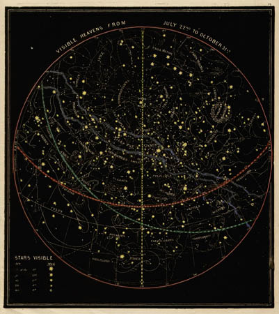 Smith's Illustrated Astronomy Visible Heavens from July 22nd to October 31st