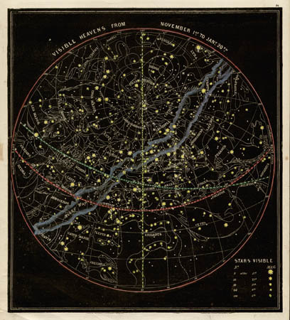 Smith's Illustrated Astronomy Visible Heavens from November 1st to Jan'y 20th