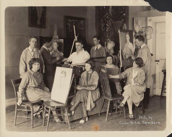 [Portrait Class in Studio, 1925]