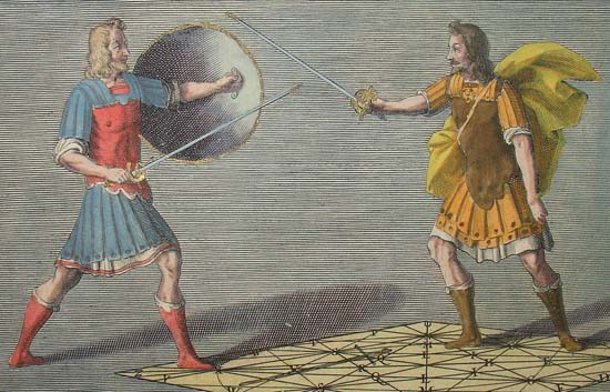 Detail from Fencing Academy of Girard Thibault of Antwerp