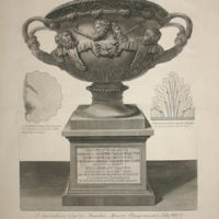 The Warwick Vase on Pedestal