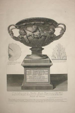 The Warwick Vase on Pedestal
