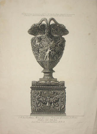 Marble Vase with Putti and Vines