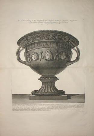 Basalt Vase With Classical Masks