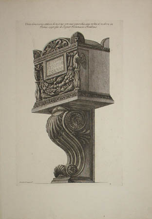Cinerary Urn Supported on a Bracket