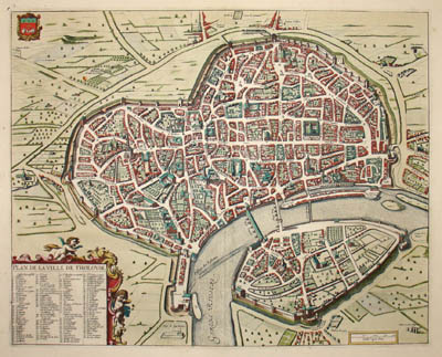 Plan de la Ville de Tholouse [Plan of the City of Toulouse, France]