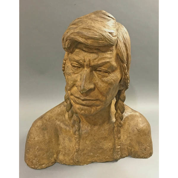 Brindesi Native American Indian Brave Bust
