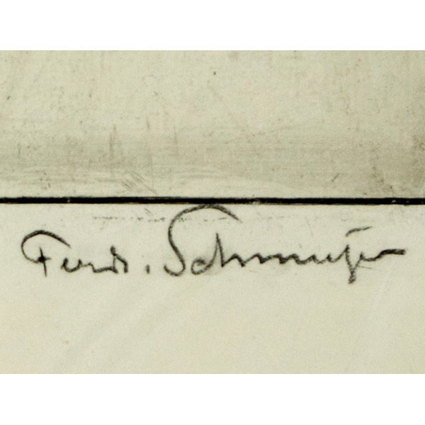 Casals etching, artist's signature