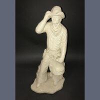 Sculpture, Cowboy, American West, Plaster, Figurine, Vintage, mid 20th Century