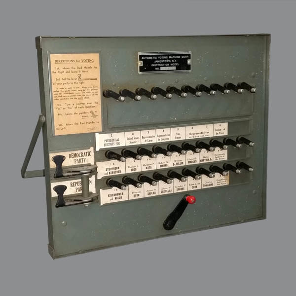Election Voting Machine Model, 1956
