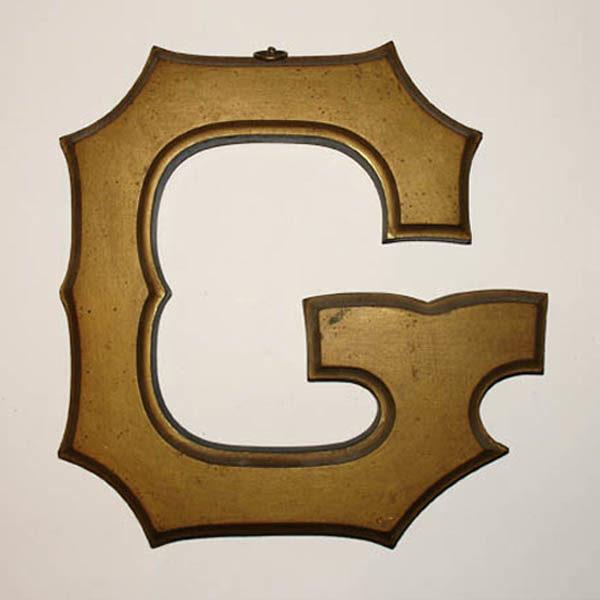 Gold Letter G Sign