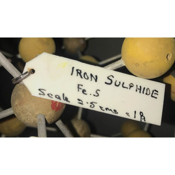 Iron Sulfide Molecular Model Label