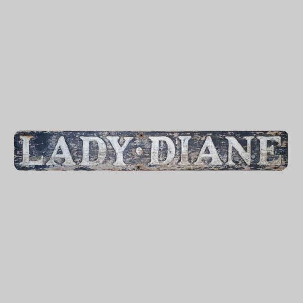Lady Diane sternboard
