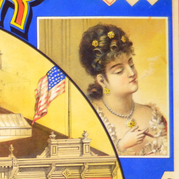 Detail of woman smoking.